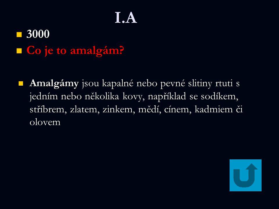 I.A 3000 3000 Co je to amalgám? Co je to amalgám? Amalgámy jsou kapalné nebo pevné slitiny rtuti s jedním nebo několika kovy, například se sodíkem, st