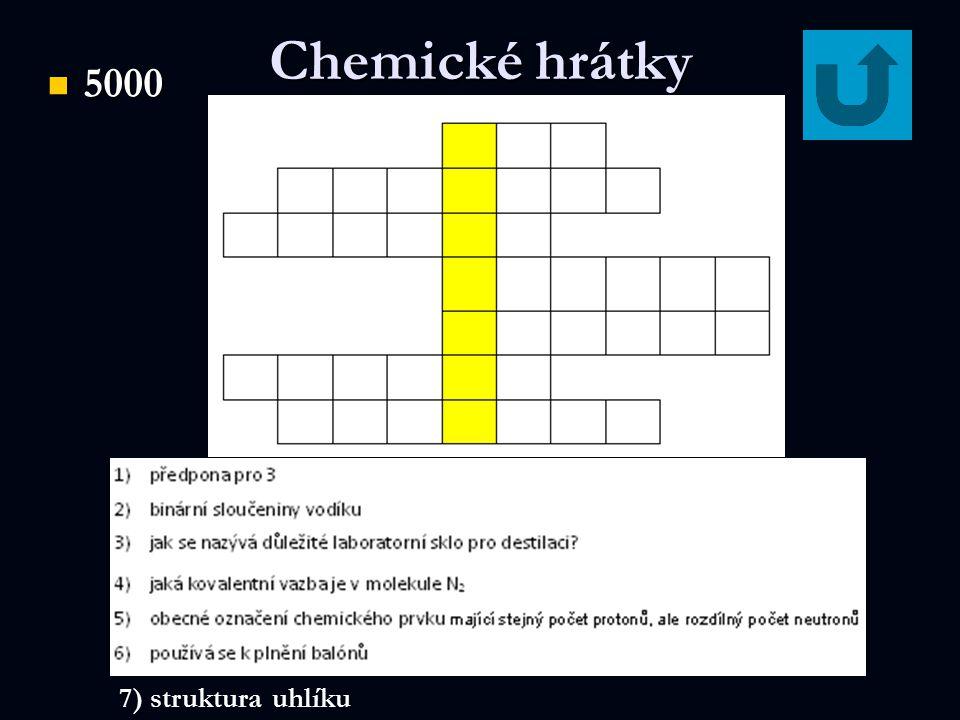 Chemické hrátky 5000 5000 7) struktura uhlíku