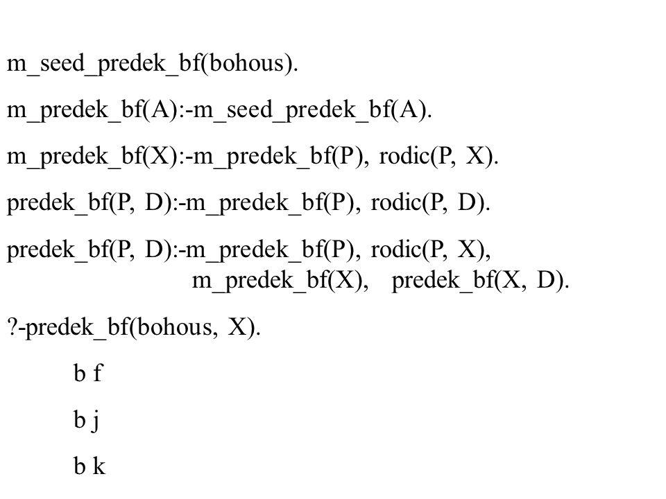 m_seed_predek_bf(bohous). m_predek_bf(A):-m_seed_predek_bf(A). m_predek_bf(X):-m_predek_bf(P), rodic(P, X). predek_bf(P, D):-m_predek_bf(P), rodic(P,