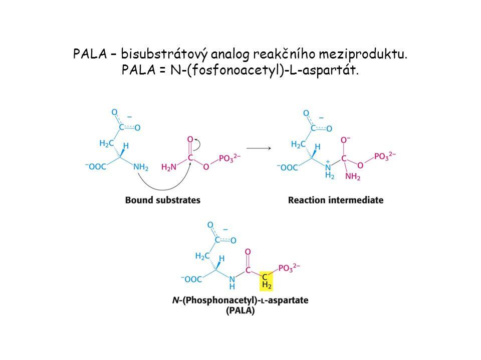 PALA – bisubstrátový analog reakčního meziproduktu. PALA = N-(fosfonoacetyl)-L-aspartát.
