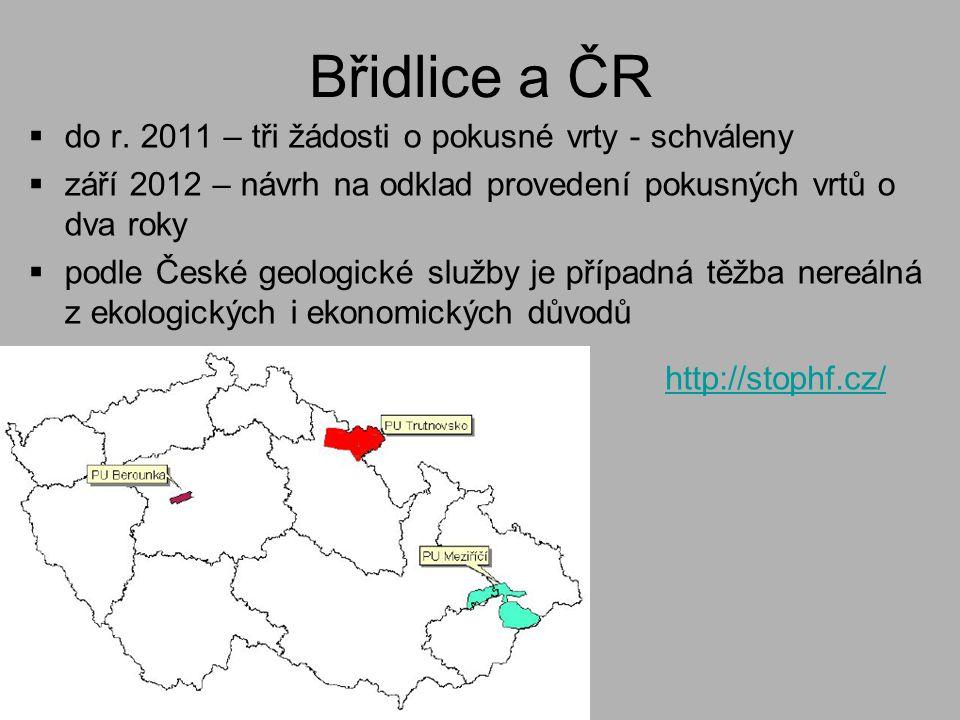 Břidlice a ČR  do r.