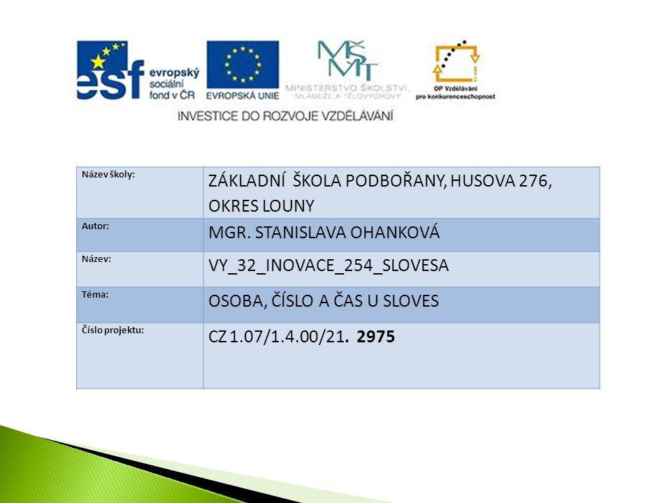 prezentace slouží k výkladu učiva v předmětu český jazyk a literatura ve 3.