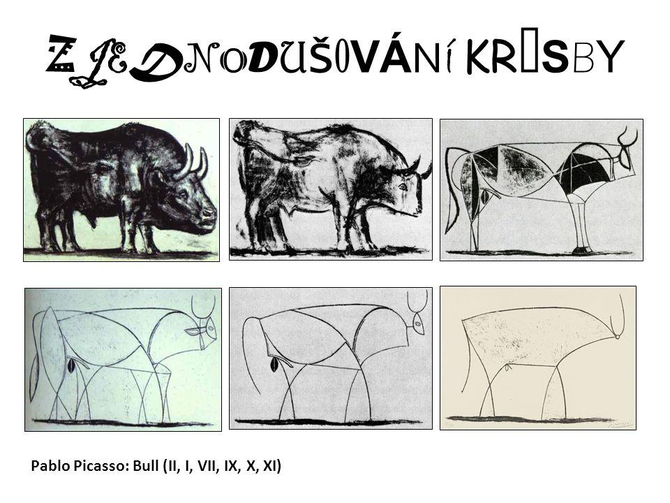ZJEDNODUŠOVÁNÍ KRESBYZJEDNODUŠOVÁNÍ KRESBY Pablo Picasso: Bull (II, I, VII, IX, X, XI)