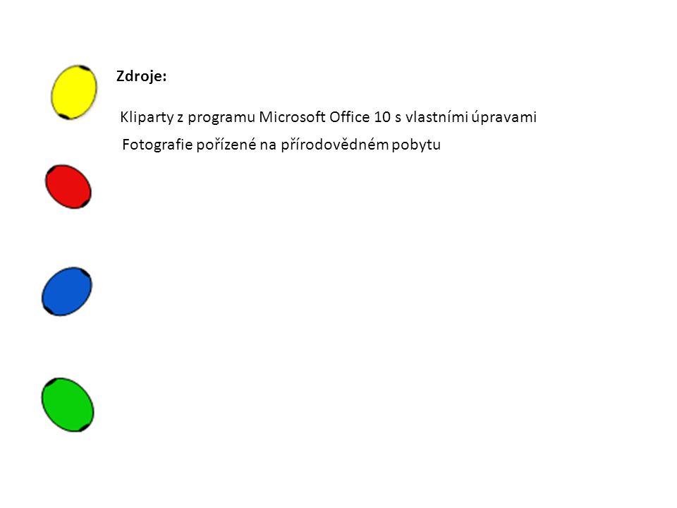 Zdroje: Kliparty z programu Microsoft Office 10 s vlastními úpravami Fotografie pořízené na přírodovědném pobytu