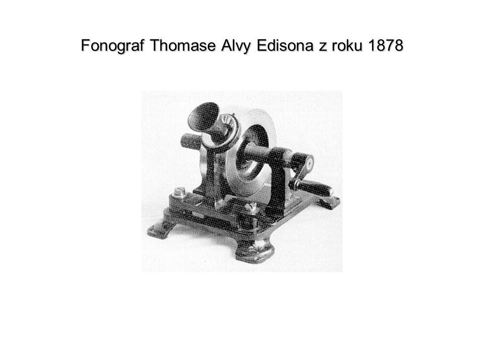 Fonograf Thomase Alvy Edisona z roku 1878