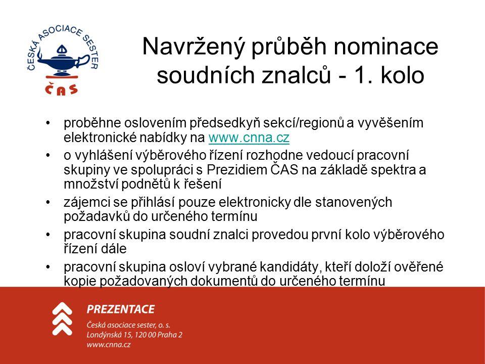 Navržený průběh nominace soudních znalců - 1.