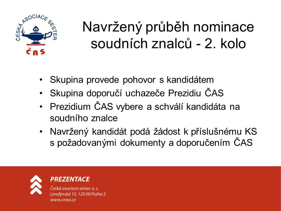 Navržený průběh nominace soudních znalců - 2.
