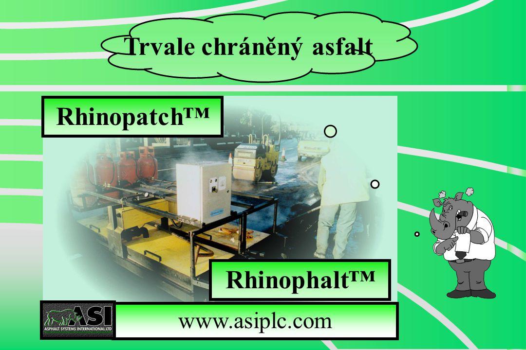Rhinopatch™ Trvale chráněný asfalt www.asiplc.com Rhinophalt™