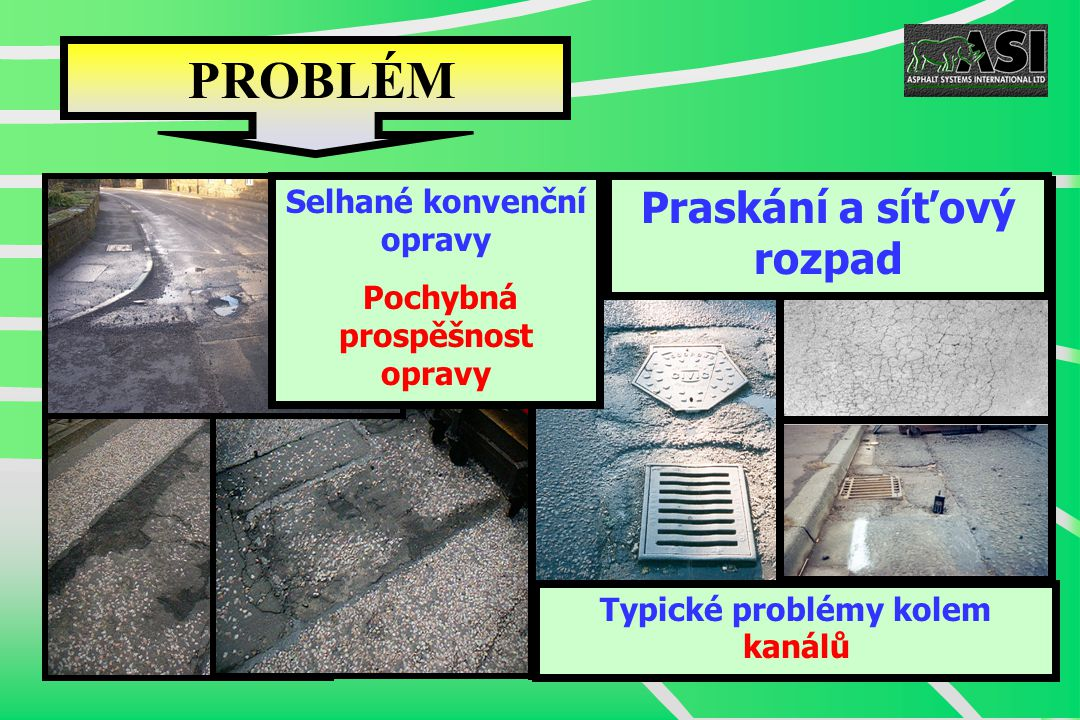 PROBLÉM Typické problémy kolem kanálů Praskání a síťový rozpad Selhané konvenční opravy Pochybná prospěšnost opravy