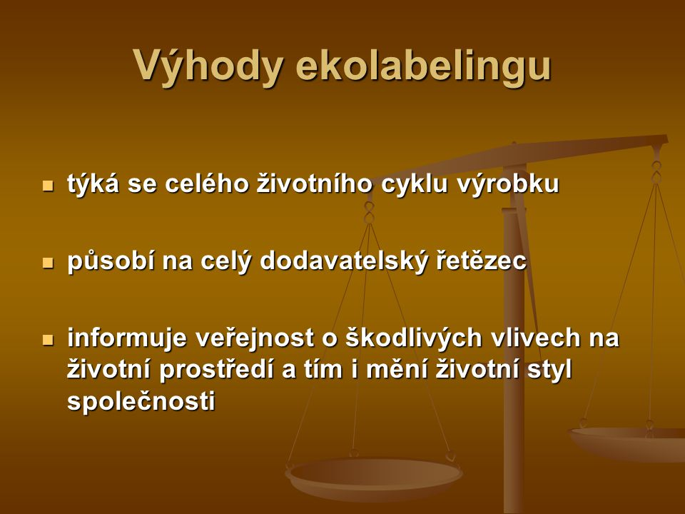 Ekolabeling pojem ekolabeling = eko – labelling = ekoetikování pojem ekolabeling = eko – labelling = ekoetikování 70.léta 20. století 70.léta 20. stol