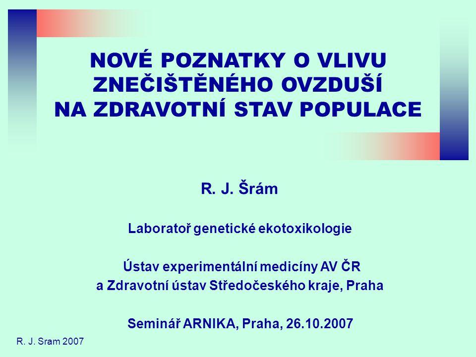 NOVÉ POZNATKY O VLIVU ZNEČIŠTĚNÉHO OVZDUŠÍ NA ZDRAVOTNÍ STAV POPULACE R.