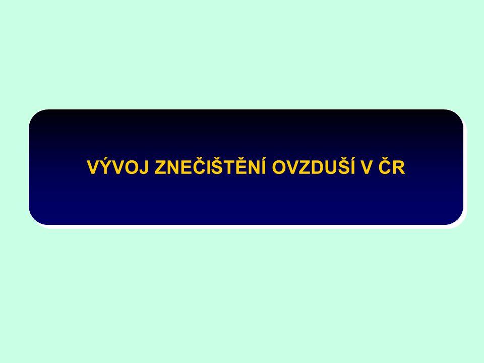 VÝVOJ ZNEČIŠTĚNÍ OVZDUŠÍ V ČR