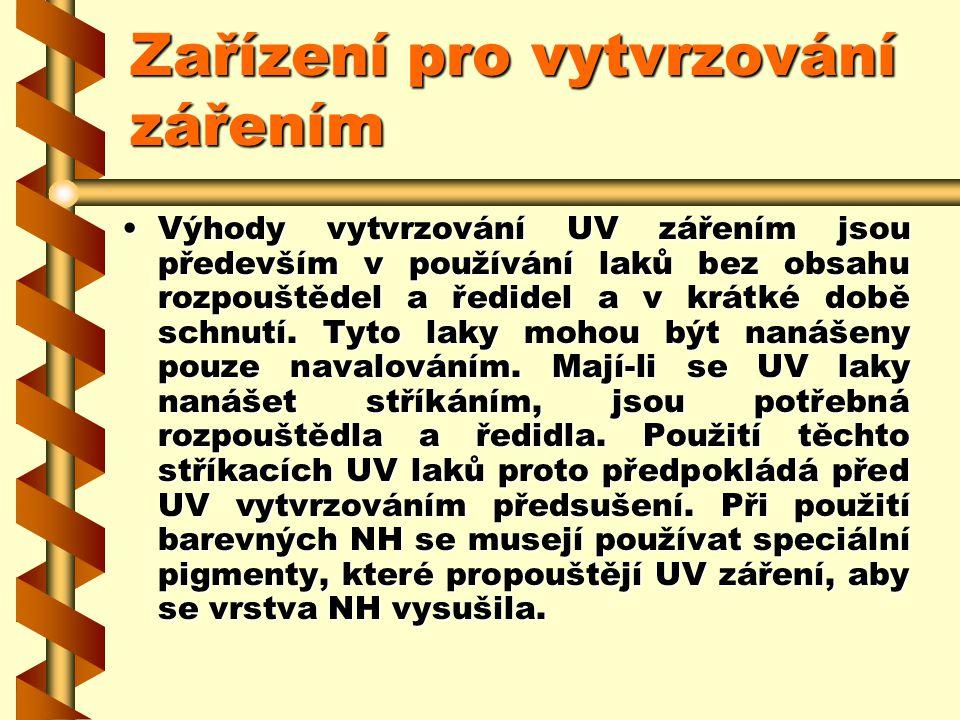 Zařízení pro vytvrzování zářením Sušička IST UV v plošném lakování