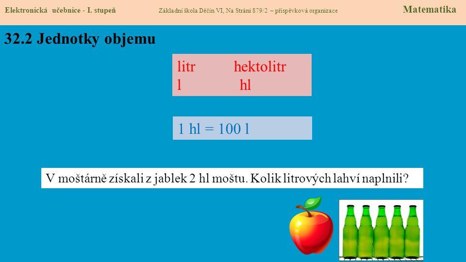 32.2 Jednotky objemu Elektronická učebnice - I.