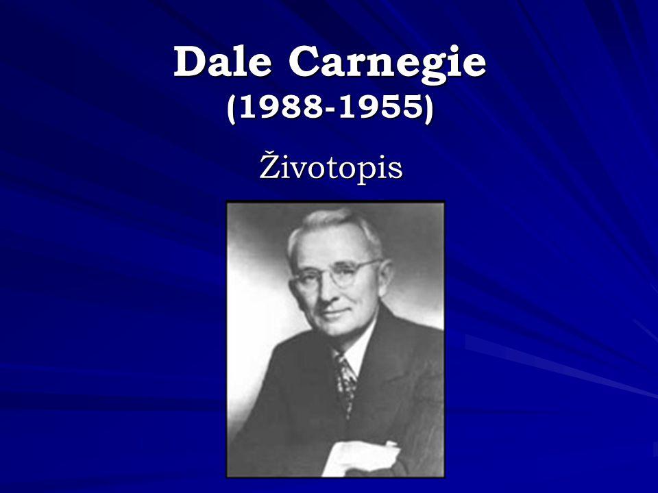 Knihy Dala Carnegie Jak získávat přátele a působit na lidi Jak se zbavit starostí a začít žít Jak mluvit a působit na druhé při obchodním jednání Jak získávat vztahy s lidmi, působit na ně a získat jejich důvěru Jak se radovat ze života a z práce Jak prodat více a stát se skutečným profesionálem