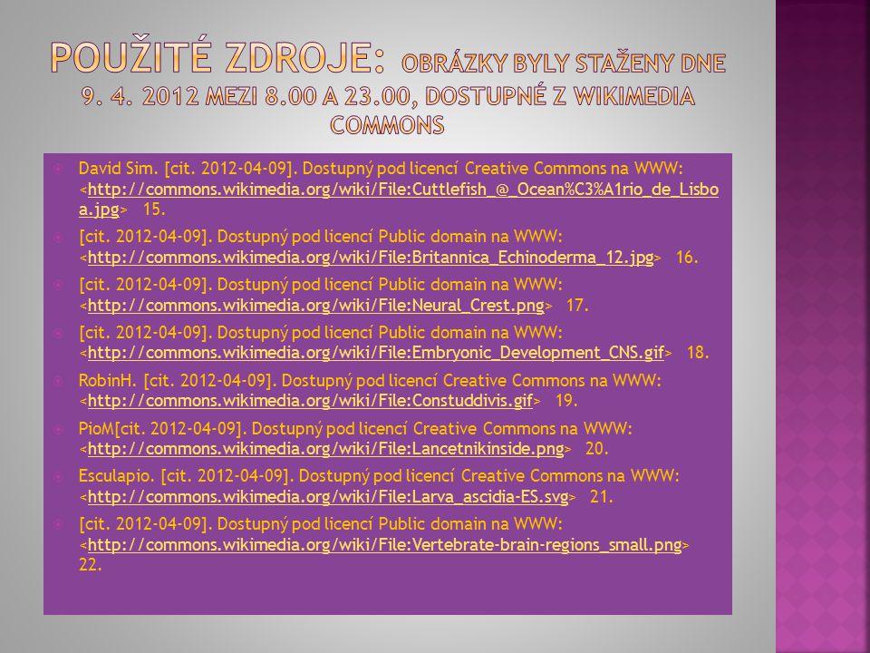  David Sim. [cit. 2012-04-09]. Dostupný pod licencí Creative Commons na WWW: 15.http://commons.wikimedia.org/wiki/File:Cuttlefish_@_Ocean%C3%A1rio_de