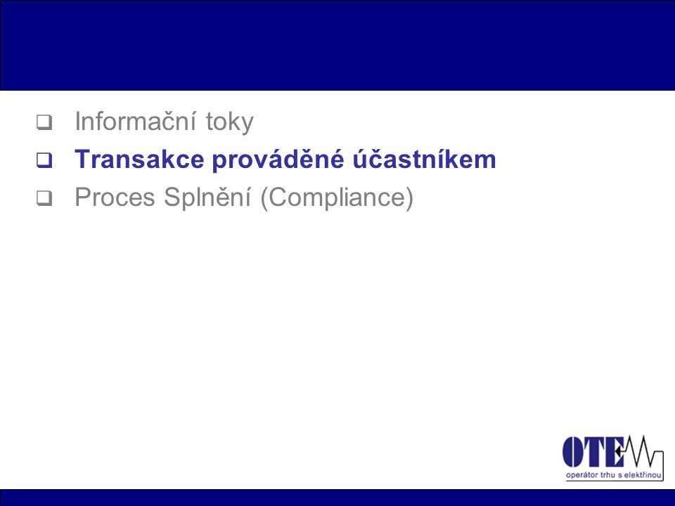 Transakce prováděné účastníkem  Tato část rejstříku umožňuje účastníkům provádění veškerých transakčních operací v závislosti na jejích právech.