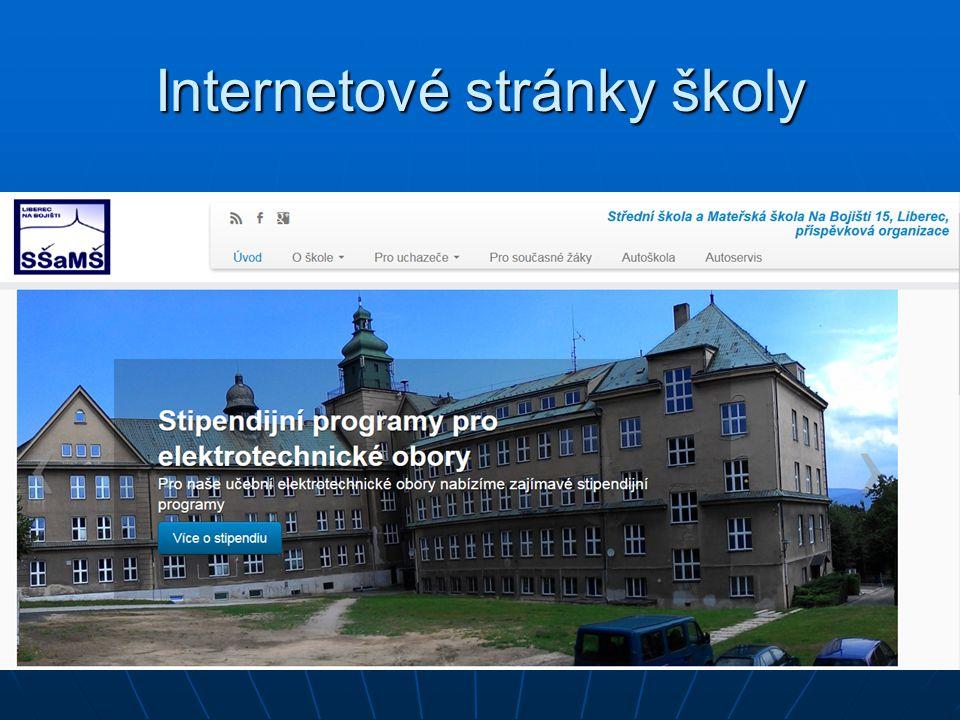 Internetové stránky školy