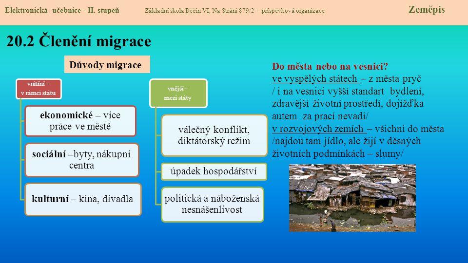 20.3 Migrace mezi kontinenty Elektronická učebnice - II.