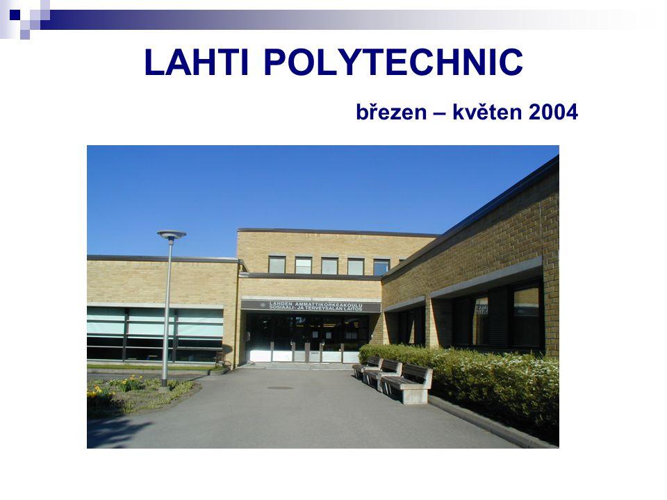 """LAHTI POLYTECHNIC Centrum """"OPTIIMI – spolupráce studentů (všeobecné sestry, fyzioterapeuti, sociální pracovníci) – příprava programu a péče o pacienty s demencí, válečné veterány – 1x týdně"""