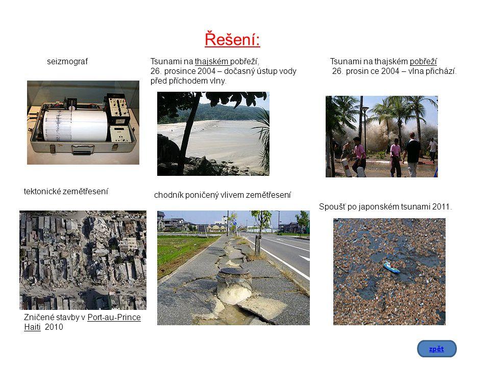 chodník poničený vlivem zemětřesení seizmograf tektonické zemětřesení Zničené stavby v Port-au-Prince Haiti 2010 Tsunami na thajském pobřeží, 26.