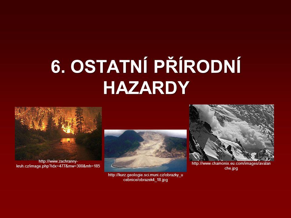 6. OSTATNÍ PŘÍRODNÍ HAZARDY http://www.zachranny- kruh.cz/image.php?idx=477&mw=300&mh=185 http://kurz.geologie.sci.muni.cz/obrazky_u cebnice/obrazek4_