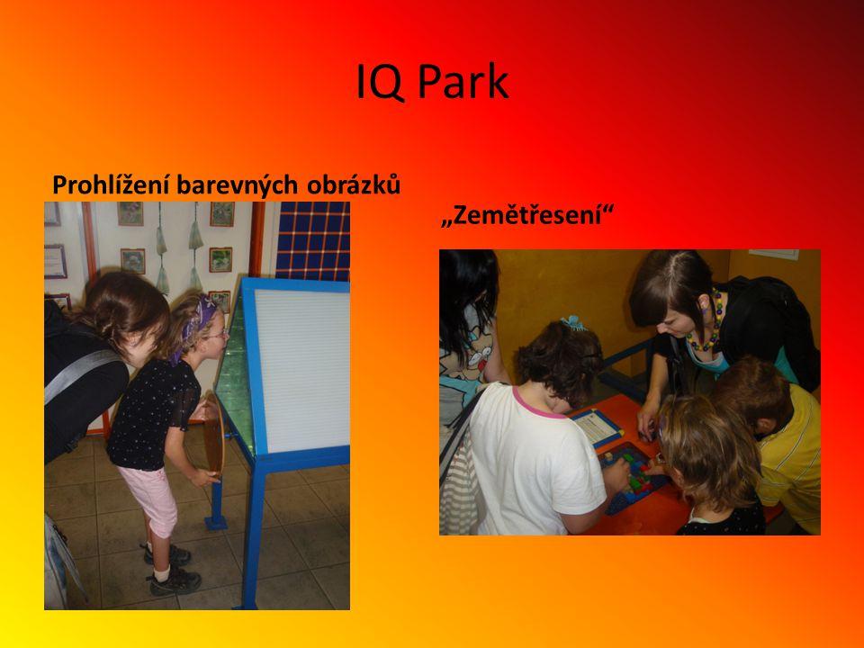 """IQ Park Prohlížení barevných obrázků """"Zemětřesení"""