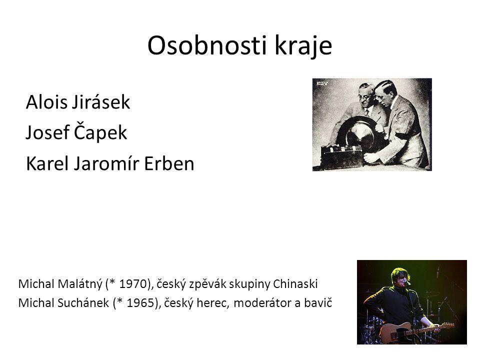 Osobnosti kraje Alois Jirásek Josef Čapek Karel Jaromír Erben Michal Malátný (* 1970), český zpěvák skupiny Chinaski Michal Suchánek (* 1965), český herec, moderátor a bavič