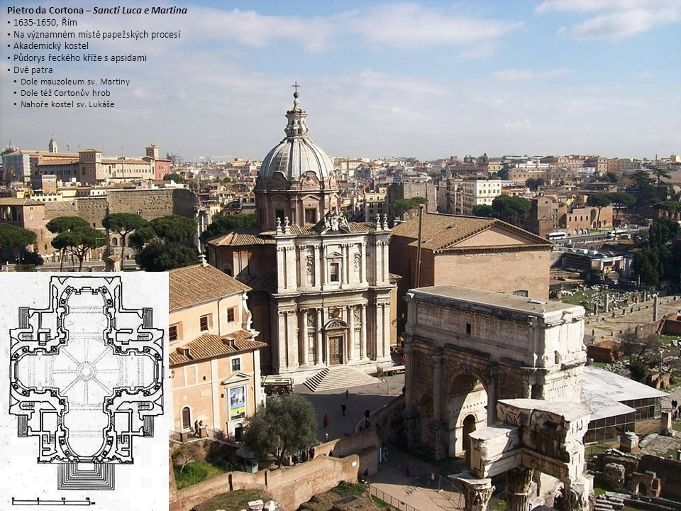 Pietro da Cortona Santa Maria della Pace Řím Řím Přestavba kostela z 15.