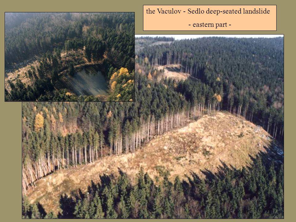 the Vaculov - Sedlo deep-seated landslide - eastern part -