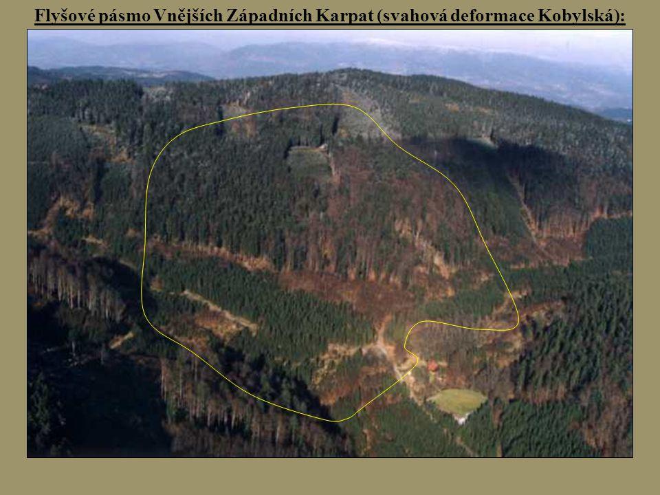Flyšové pásmo Vnějších Západních Karpat (svahová deformace Kobylská):
