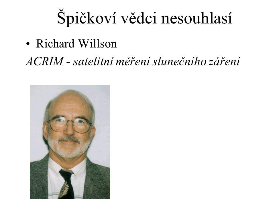 Richard Willson ACRIM - satelitní měření slunečního záření