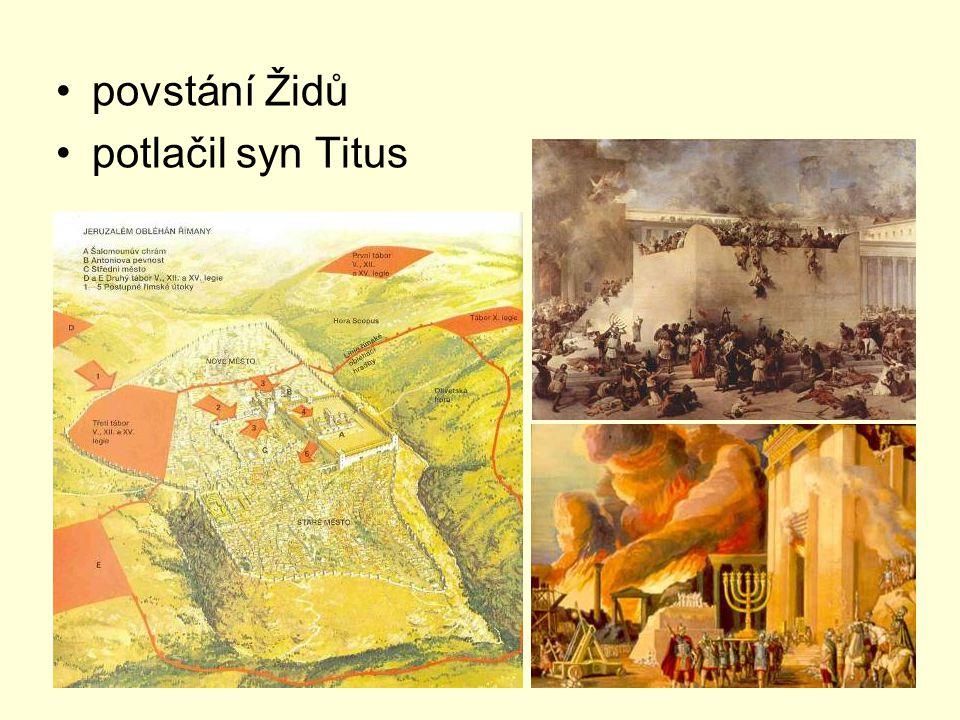 povstání Židů potlačil syn Titus