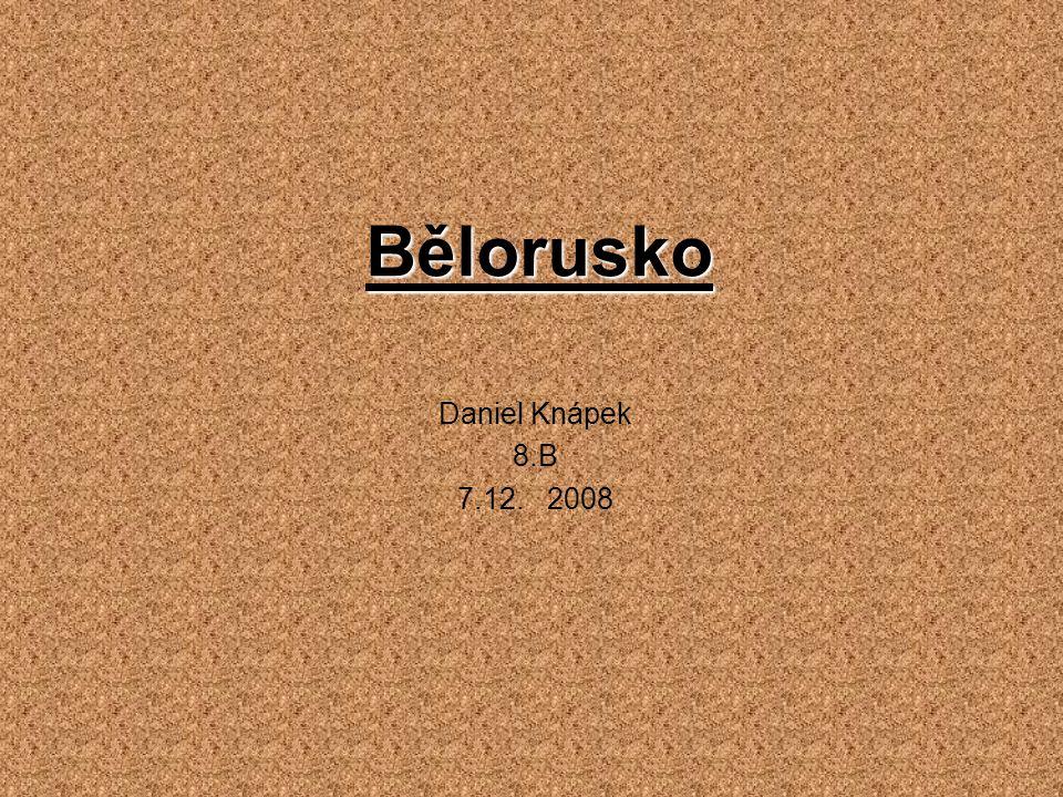 Základní údaje Běloruská republika Hlavní město: Minsk Rozloha: 207 600 km² Státní zřízení: republika Státní vlajka Státní znak