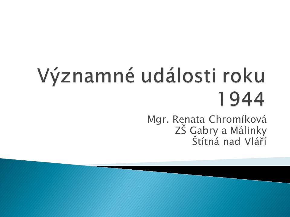 Mgr. Renata Chromíková ZŠ Gabry a Málinky Štítná nad Vláří