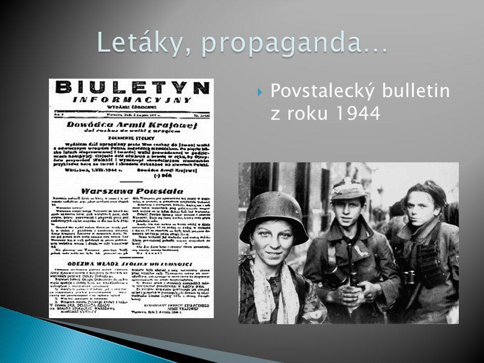  Povstalecký bulletin z roku 1944
