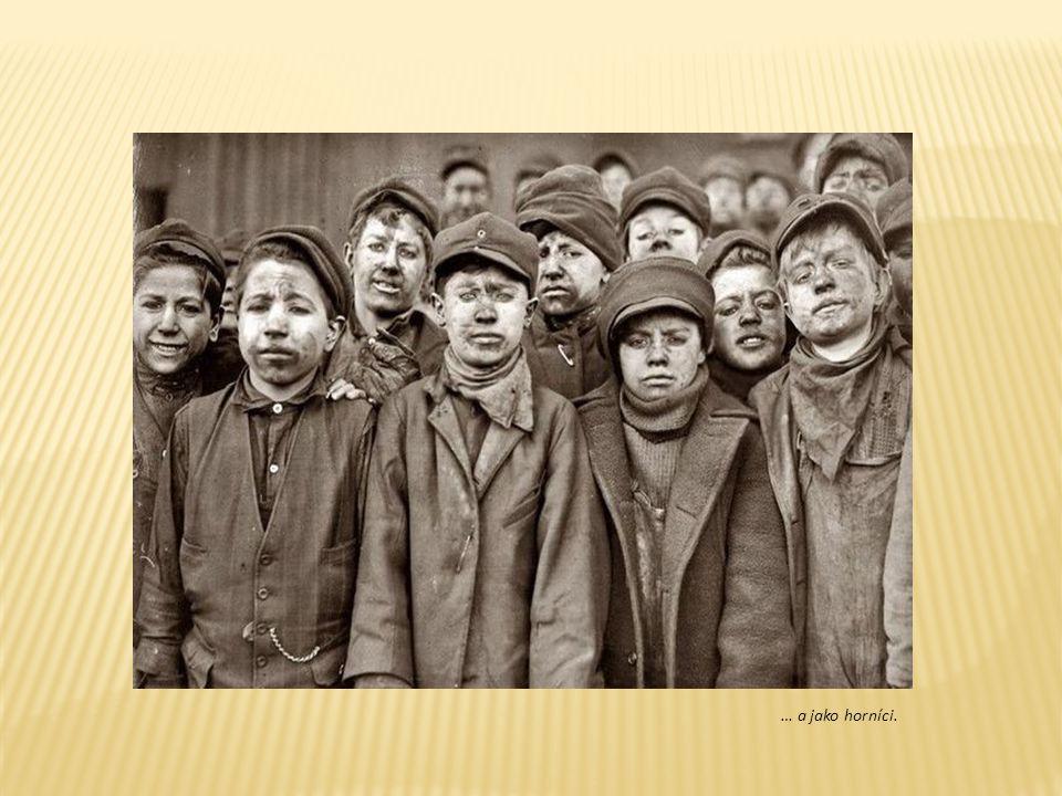 Děti – dělníci v textilní fabrice