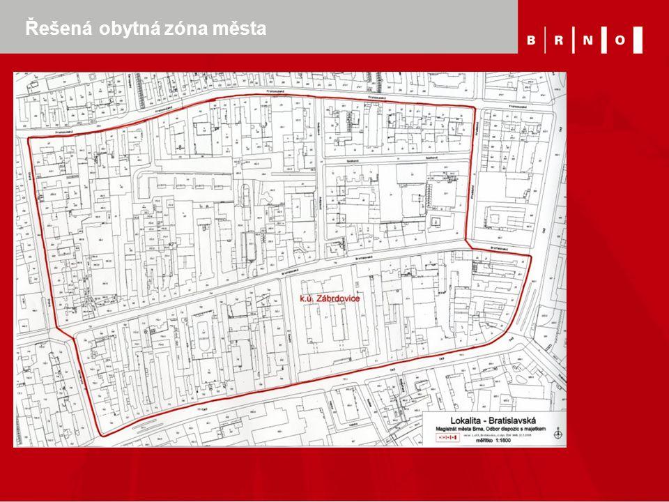 Řešená obytná zóna města