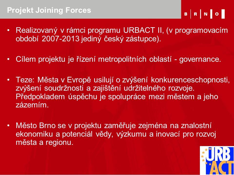 Projekt Joining Forces Realizovaný v rámci programu URBACT II, (v programovacím období 2007-2013 jediný český zástupce). Cílem projektu je řízení metr