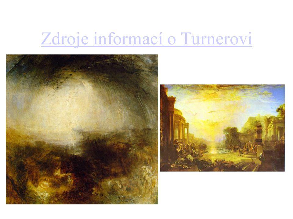 Zdroje informací o Turnerovi