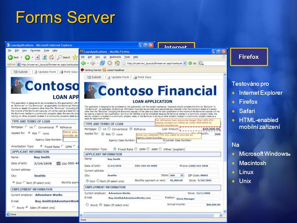 Testováno pro Internet Explorer Firefox Safari HTML-enabled mobilní zařízení Na Microsoft Windows ® Macintosh Linux Unix Internet Explorer FirefoxFire