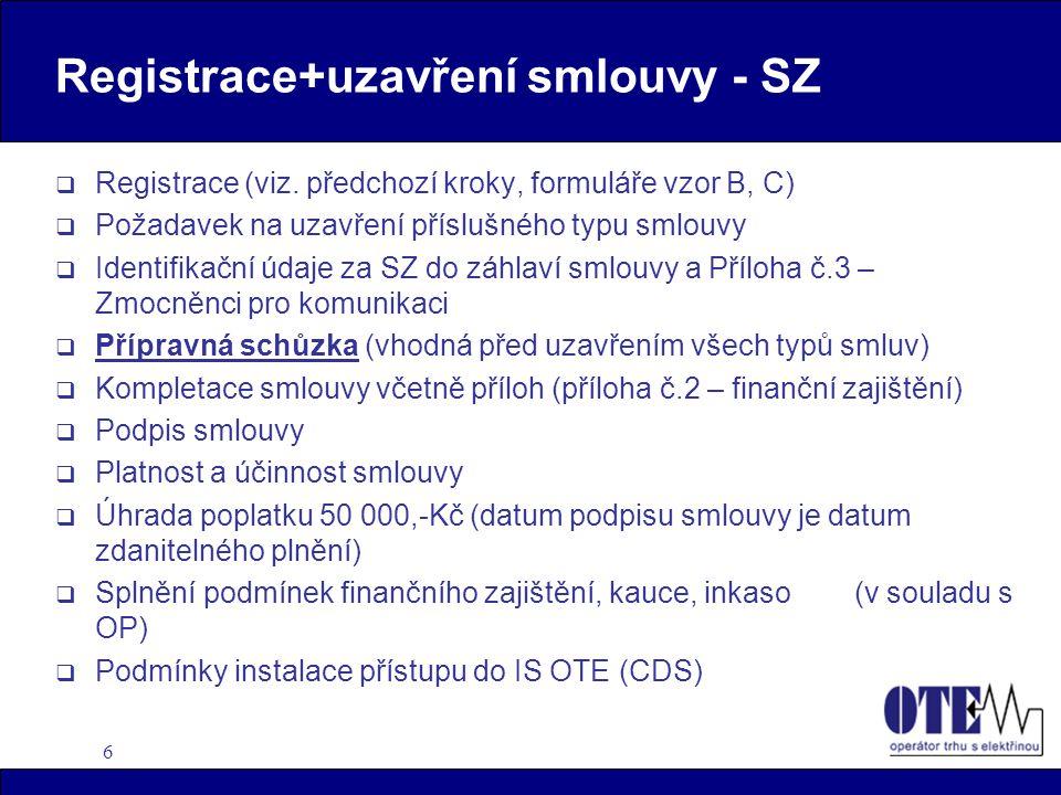 6 Registrace+uzavření smlouvy - SZ  Registrace (viz.