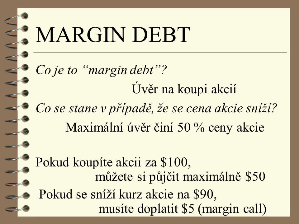 MARGIN DEBT Co je to margin debt .