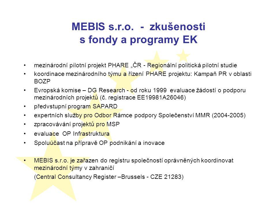 Aktivity v roce 2007 leden - smlouva mezi ÚEM AV ČR a MEBIS s.r.o o zabezpečeni řešení projektu únor - duben - analýza a zpracování inovované verze projektu duben - schválení inovované verze projektu MPSV ČR a prodloužení termínu řešení do 30.6.2008 květen - vypsána 3 výběrová řízení červen - zahájení spolupráce se subdodavateli 1.