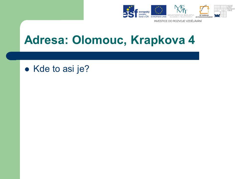 Mapa: Olomouc, Krapkova 4