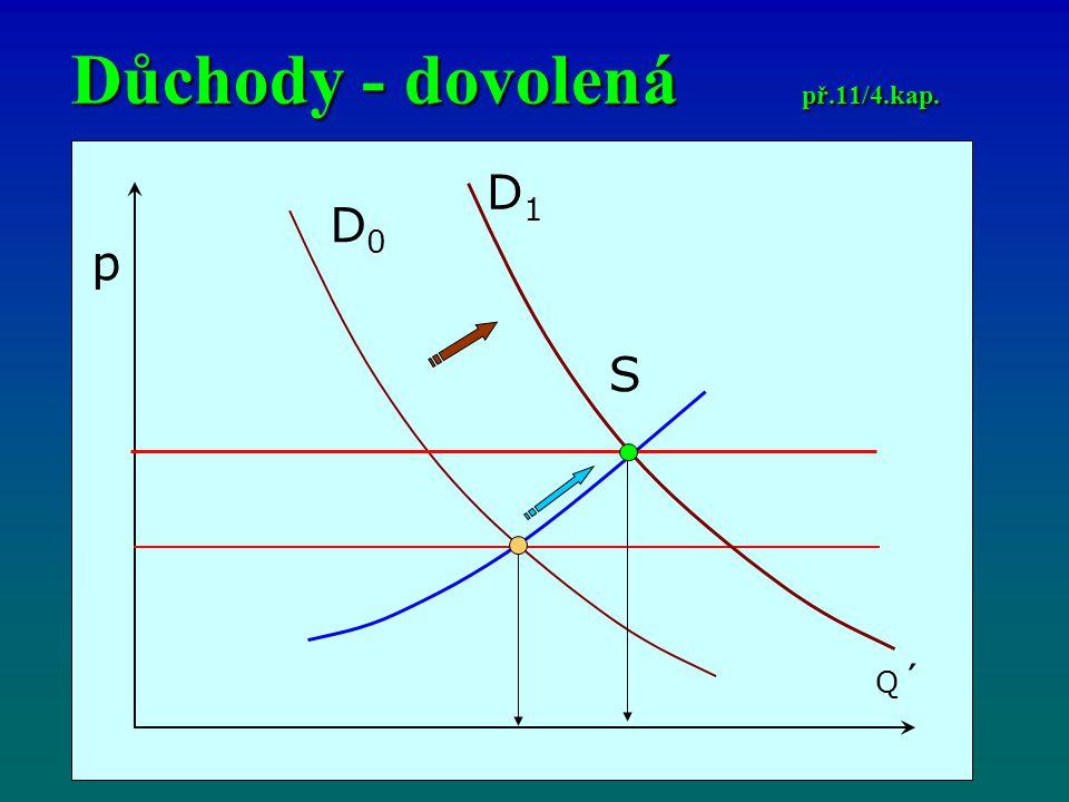 Důchody - dovolená př.11/4.kap. p Q´Q´ D0D0 S D1D1