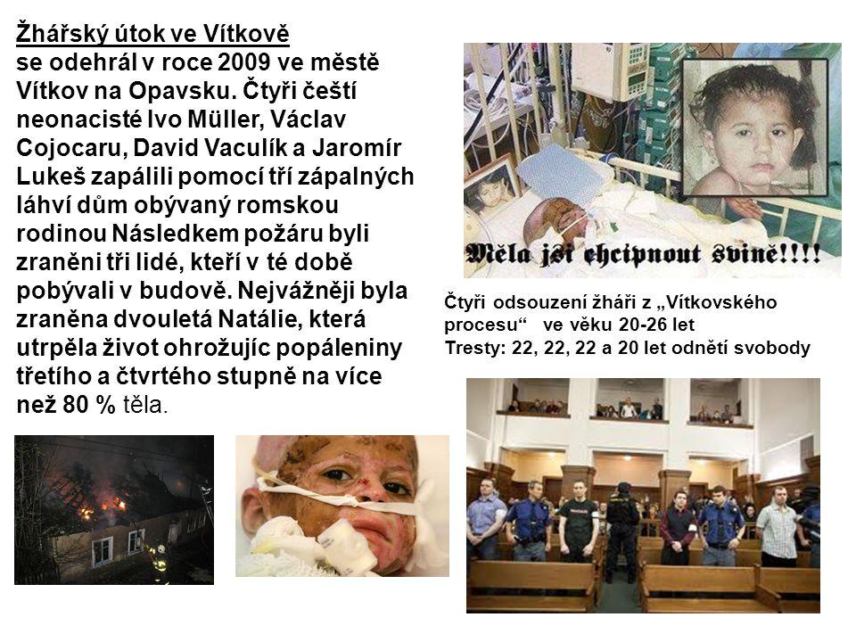 Žhářský útok ve Vítkově se odehrál v roce 2009 ve městě Vítkov na Opavsku. Čtyři čeští neonacisté Ivo Müller, Václav Cojocaru, David Vaculík a Jaromír