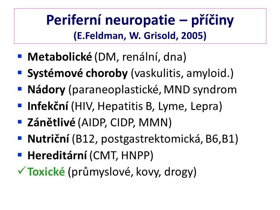 Periferní neuropatie – příčiny (E.Feldman, W.