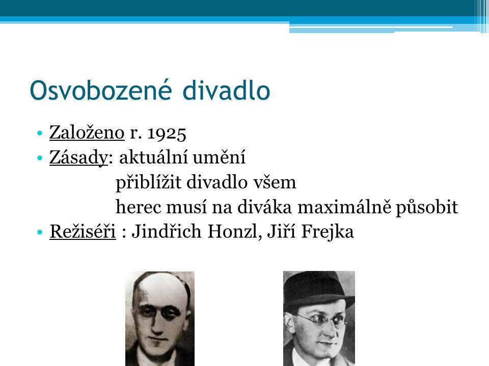 Osvobozené divadlo Založeno r.
