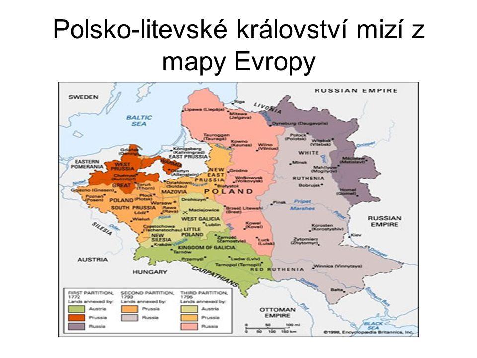 Polsko-litevské království mizí z mapy Evropy